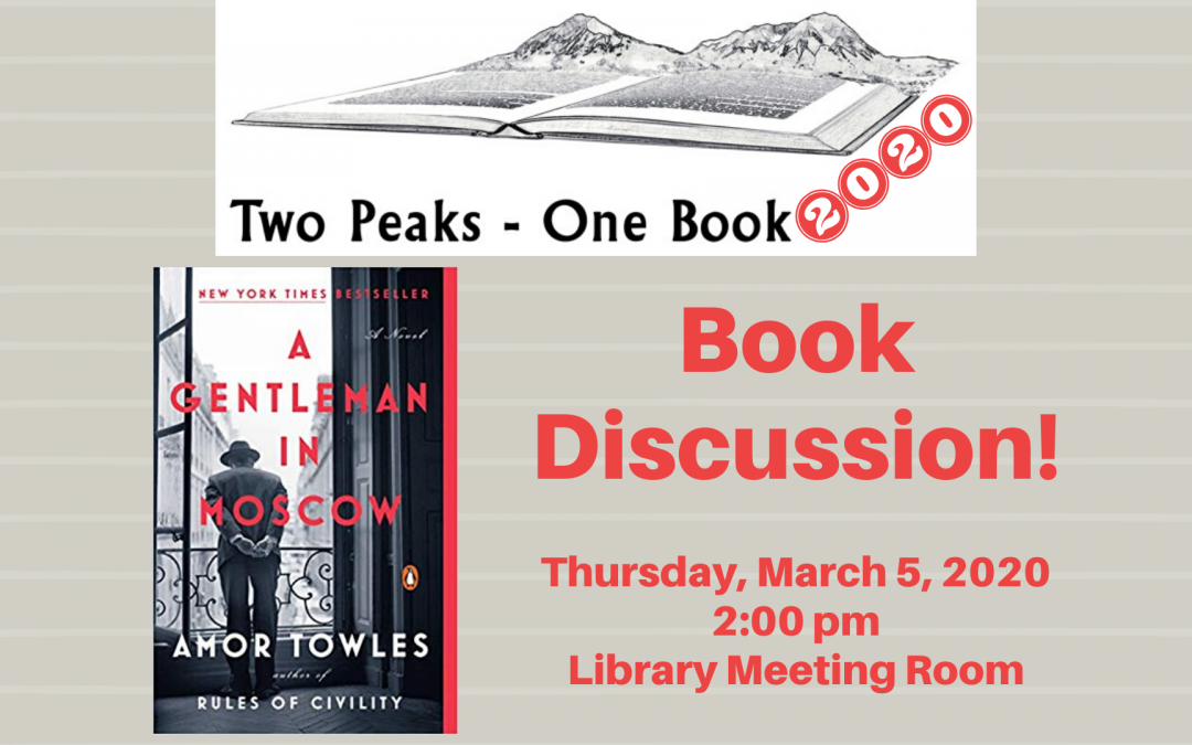 "Book Discussion ""A Gentleman in Moscow"""